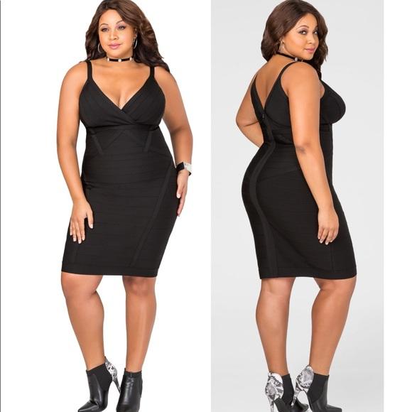 3f0ee3ea Ashley Stewart Dresses   Black Bandage Bodycon Dress 264x   Poshmark